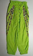 Ellesse Women's Ski Trousers Sz M UK 12 Fluo Green Snow Pants Snowboarding wear