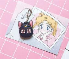 Sailor Moon Luna Purple Cat Keychain Figure Cosplay Cute Pendant cute Keyring