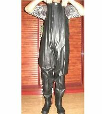 Kohshin Gummi-Watstiefel Black All Rubber Extra Tall Chest Waders Boots EU43 UK9