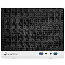 Silverstone Sst-sg13wb White Sugo SFF Mini ITX Case Mesh Front Panel USB 3.0