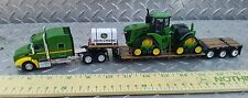 1/64 ERTL farm toy custom dcp John deere peterbilt w/ 9570rx quad track tractor