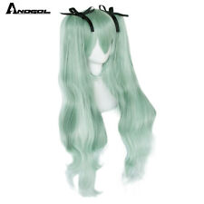 Vocaloid Hatsune Miku Double Green Ponytails Synthetic Cosplay Wig For Women