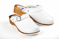 Womens Work Clogs Garden Kitchen Hospital Ladies Slip On Leather Shoes Mules