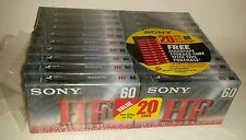 Sony HF normal bias 60 minute audio casettes pack of 20 sealed new unused