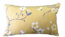 """12 x 18"""" RECTANGLE CUSHION COVER- EMI mimosa yellow grey blossom floral bolster"""