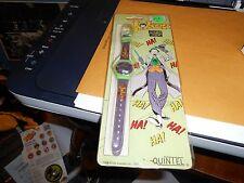 Vintage 1989 Joker Watch NEW NIB Batman 1980s EMO LCD DC Comics Quintel