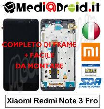 XIAOMI REDMI NOTE 3 PRO SE NERO VETRO TOUCH SCHERMO DISPLAY LCD FRAME COMPLETO