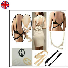 3Pcs Bra Strap Clip Push up Racer Back Clips Cleavage Enhancer Cross Over UK