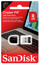 SanDisk 8GB Cruzer Fit USB 2.0 Flash Memory Pen Drive Thumb Stick SDCZ33-008G