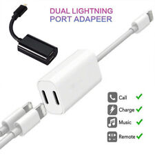 Dual Adapter For iPhone Xs Max Xr XS X 7 8 Plus Splitter Audio Headphone Charger