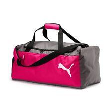 Puma Fundamentals Medium Sports Bag Beetroot Purple-Steel Gray New