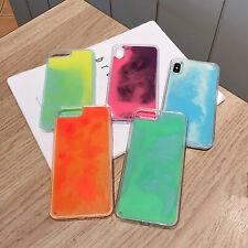 iPhone 11 Pro Max 6 7 8 Plus X Luminous Liquid Quicksand Dynamic Sand Case Cover