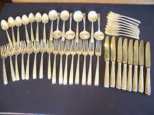 Vintage Sterling Silver Flatware Set Gorham Camellia 47 Pieces Service for 8