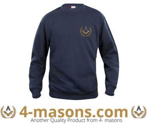 Masonic Mason Round Neck Navy Sweat shirt with Square & Compass Design