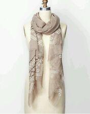 New nwt Ann Taylor modern fair isle scarf warm stone