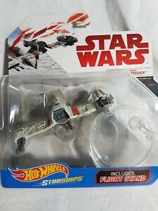 Star Wars The Last Jedi Poe's Ski Speeder Hot Wheels Starships 2017 Aus Seller