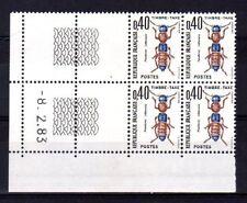 FRANCE YVERT Timbre Taxe n° 110 neuf sans charnière - bloc de 4 coin daté