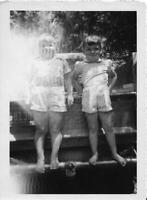 LITTLE KIDS Vintage FOUND PHOTO Girls bw FREE SHIPPING Original Snapshot 07 24 S