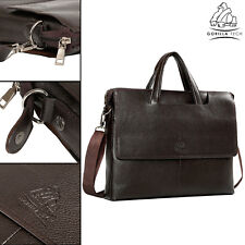 New Leather Laptop Bag Men Business Genuine Briefcase Satchel Shoulder Messenger