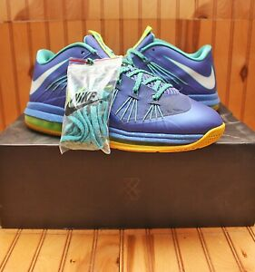 2012 Nike Air Max Lebron X 10 Low Sprite Size 11 - Sport Turquoise - 579765 500