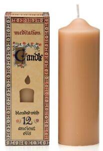 Meditation Range Candle Australian Made Blend of 12 Essential Oils Tall  70 Hrs