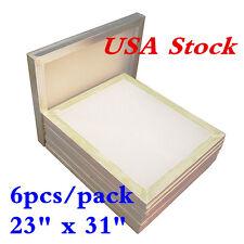 """USA Stock! 6pcs 23"""" x 31"""" Aluminum Silk Screen Printing Frame with 110 Mesh"""