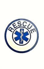"""EMS RESCUE Highly Reflective STAR OF LIFE DECAL - RESCUE EMS 2 1/2"""" Decal"""