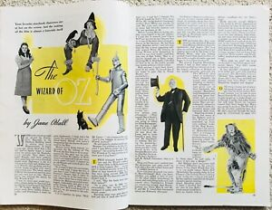 THE WIZARD OF OZ Judy Garland Dorothy August 1939 Good Housekeeping Magazine