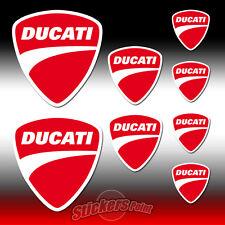 8 Adesivi DUCATI stickers scudetto - new logo - all models - MOTO GP  scudo