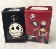 Nightmare Before Christmas Pocket Watch Jack Face Glow In The Dark NIB GIFT NEW