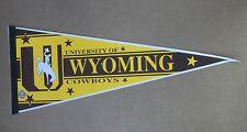 Vintage University of Wyoming Cowboys Felt Pennant 12x30 No Pinholes