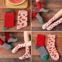 Fashion Watermelon Fruit Male and Female Cotton Socks Autumn Winter Warm Sock