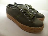 Neue NAPAPIJRI Damen Espadrillas Sneaker Gr 37 Khaki Plateausohle aus Jute