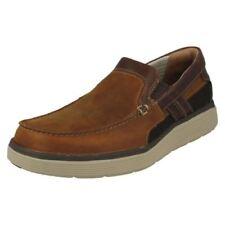Zapatos informales de hombre mocasines marrones, Talla 44.5