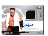 WWE Samoa Joe 2017 Topps Undisputed Silver Autograph Relic Card SN 11 of 50