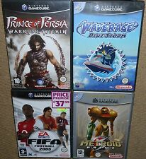 JOB LOT 4 x NINTENDO GAMECUBE GAME Metroid Prime ave Race Prince Persia Warrior