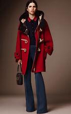 NWT $4K BURBERRY Oversized Technical Wool Duffle Coat, IT 36