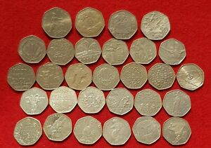 1969 to 2017 50p FIFTY PENCE RARE EC,D-DAY,OLYMPICS,VC,NEWTON,NHS ETC COIN HUNT
