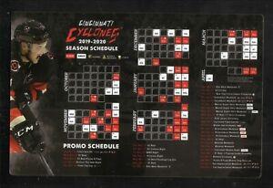 Cincinnati Cyclones--2019-20 Magnet Schedule--ECHL--Sabres Affiliate