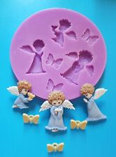 ANGELS CHERUBS BUTTERFLIES SILICONE MOULD FOR CAKE TOPPERS, CHOCOLATE, CLAY ETC