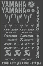 KIT ADESIVI GRAFICHE STICKERS MOTO SPONSOR SILVER CARENE YAMAHA MT 09 DECALS