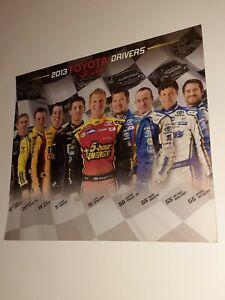 2013 Toyota Drivers Hero Postcard Kyle Busch Mark Martin Kenseth Bowyer Truex Jr