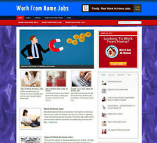 WORK FROM HOME JOBS AFFILIATE STORE & WEBSITE WITH FREE DOMAIN + VIDEO PAGES