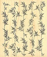 Bamboo Crops Background Large Wood Mounted Rubber Stamp JUDIKINS, NEW - 2549J