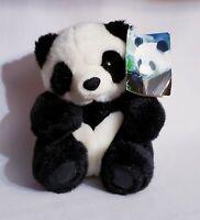"Vintage A&A Aurora Plush Panda Bear Stuffed Animal With Tag 8"" Zoo Toy"