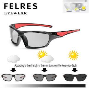 Men Photochromic Polarized Sunglasses Outdoor Driving Riding Fishing Glasses New
