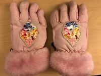 Disney Princess Girls Pink Winter Ski / Snow Gloves One Size