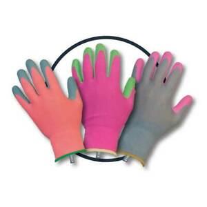 Clip Glove Triple Pack Ladies Gardening Gloves Size Medium - 3 pairs of gloves
