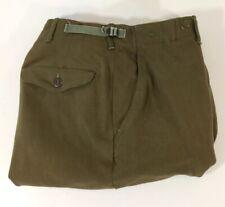 Vintage US Army Wool M-1951 Field Trousers Korean War Wool Pants Short Medium
