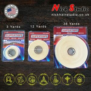 🔥 SUPERTAPE 3YRD - STICKY TAPE FOR WIGS/TOUPEES - DOUBLE SIDED TAPE